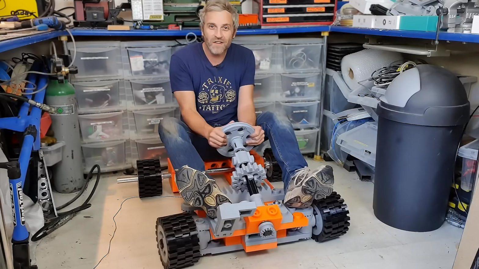 XXL 3D Printed LEGO Go-Kart by Matt Denton