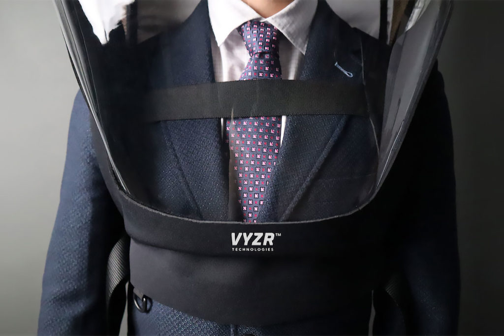 BioVYZR Powered Air-filtration Protective Shield