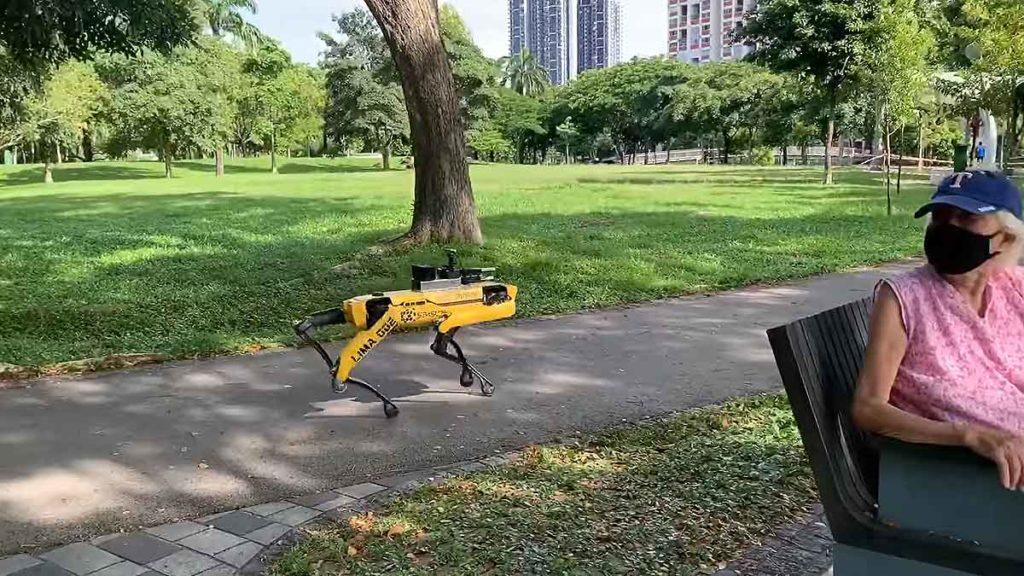 Boston Dynamics Spot in Singapore