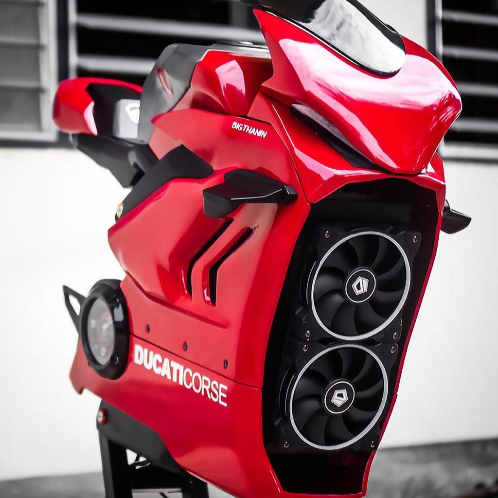 FUXK Custom Ducati Motorcycle Desktop PC
