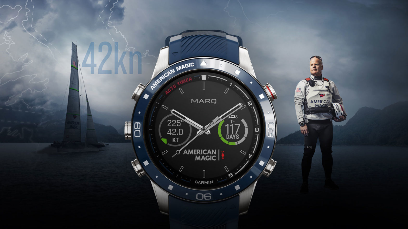 Garmin MARQ Captain: American Magic Edition