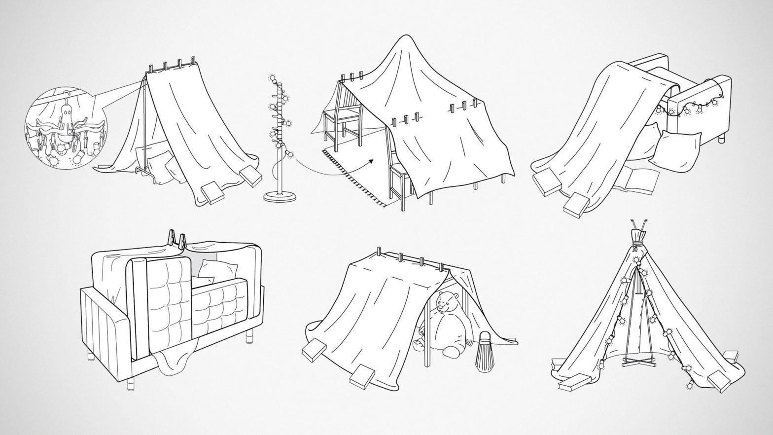 IKEA 6 Ways To Make Furniture Forts