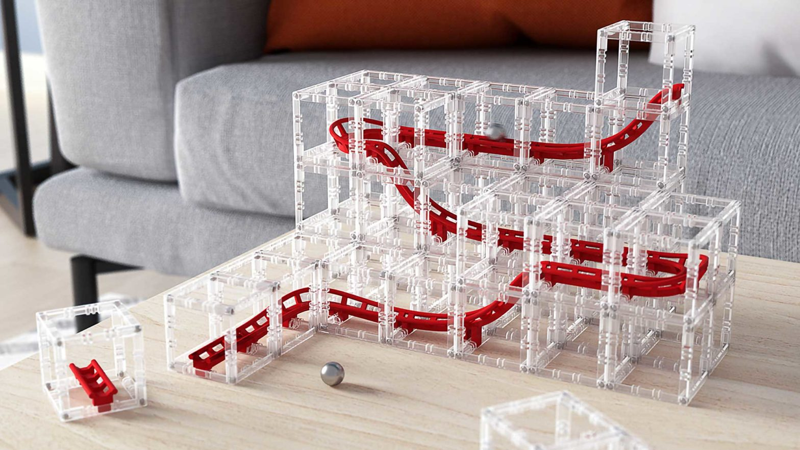 MagnetCubes Modular Blocks Marble Run Kit