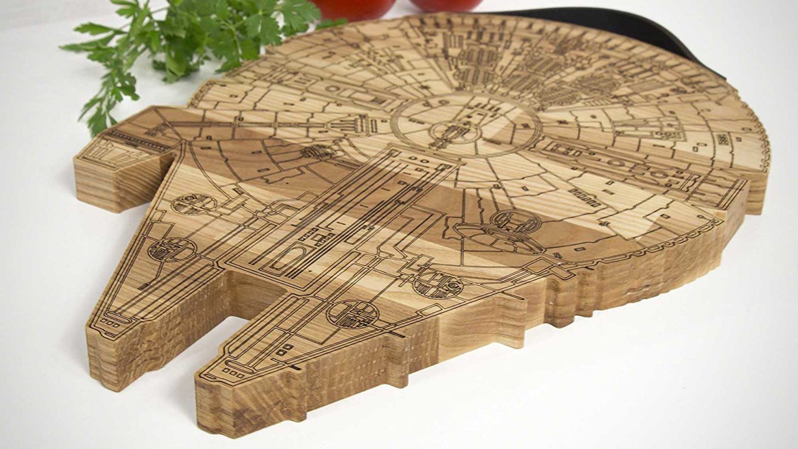 Millennium Falcon Wooden Cutting Board