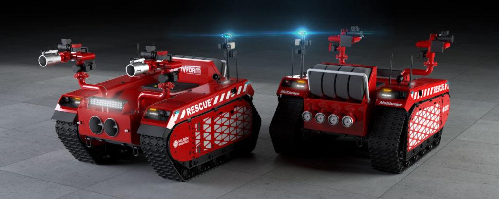Milrem Robotics x InnoVfoam Robotic Firefighters