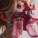 Artist Knits Quirky Mouth-themed Face Masks, Some With Tongue(s) Sticking Out