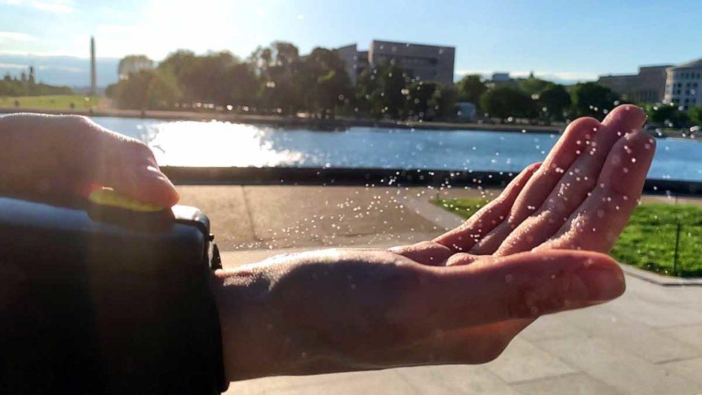PumpPiX Wrist-worn Hand Sanitizer Dispenser