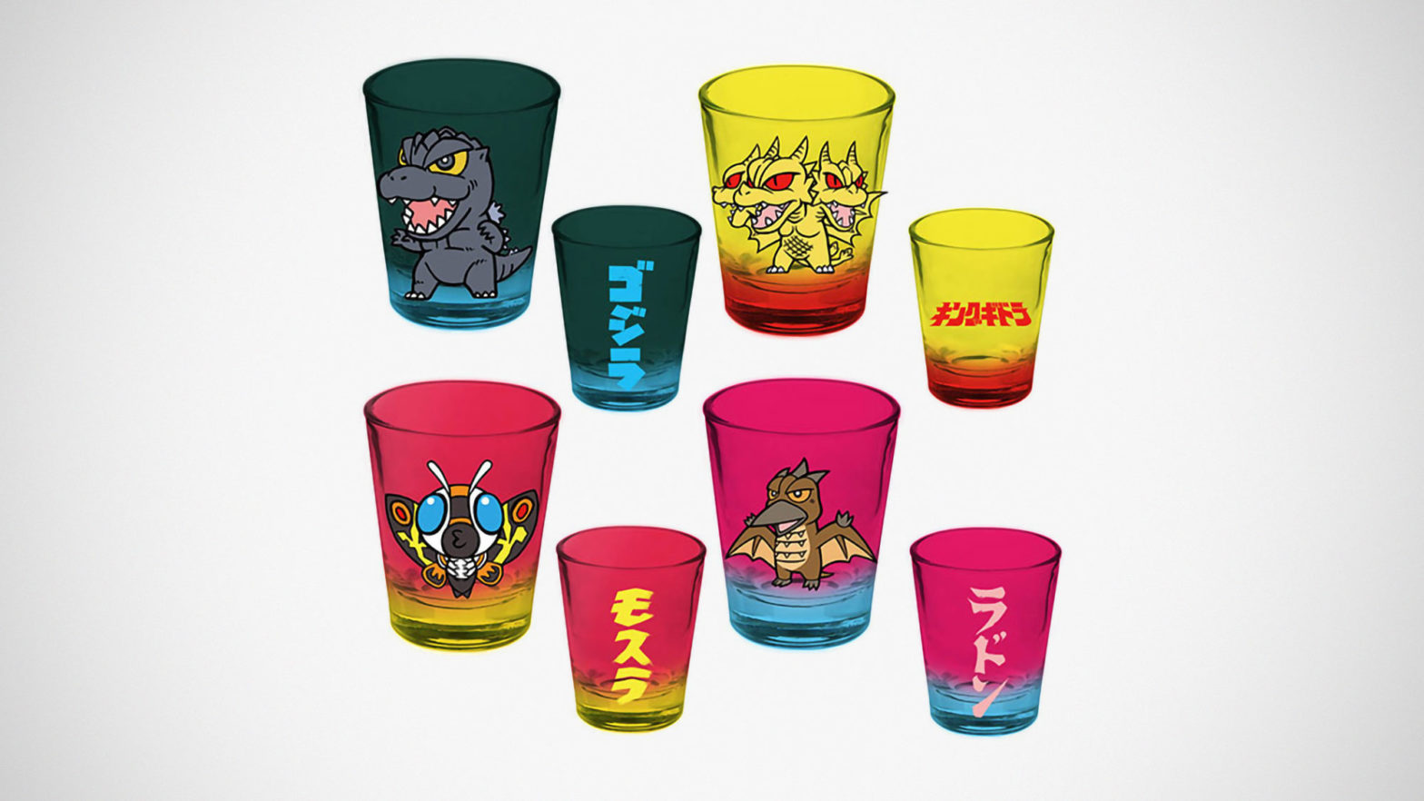 Surreal Entertainment Godzilla Shot Glass Set