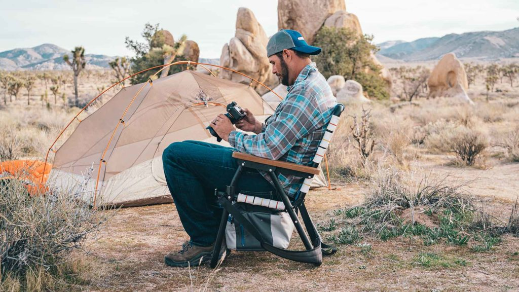 The Voyager Outdoor Chair and Cooler Hybrid