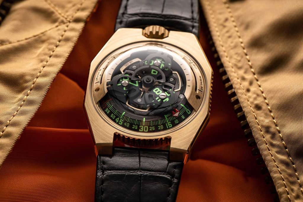 URWERK UR-100 Gold Edition Luxury Wrist Watch