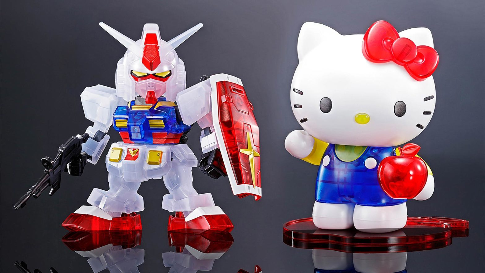 Hello Kitty RX-78-2 Gundam Clear Model Kit