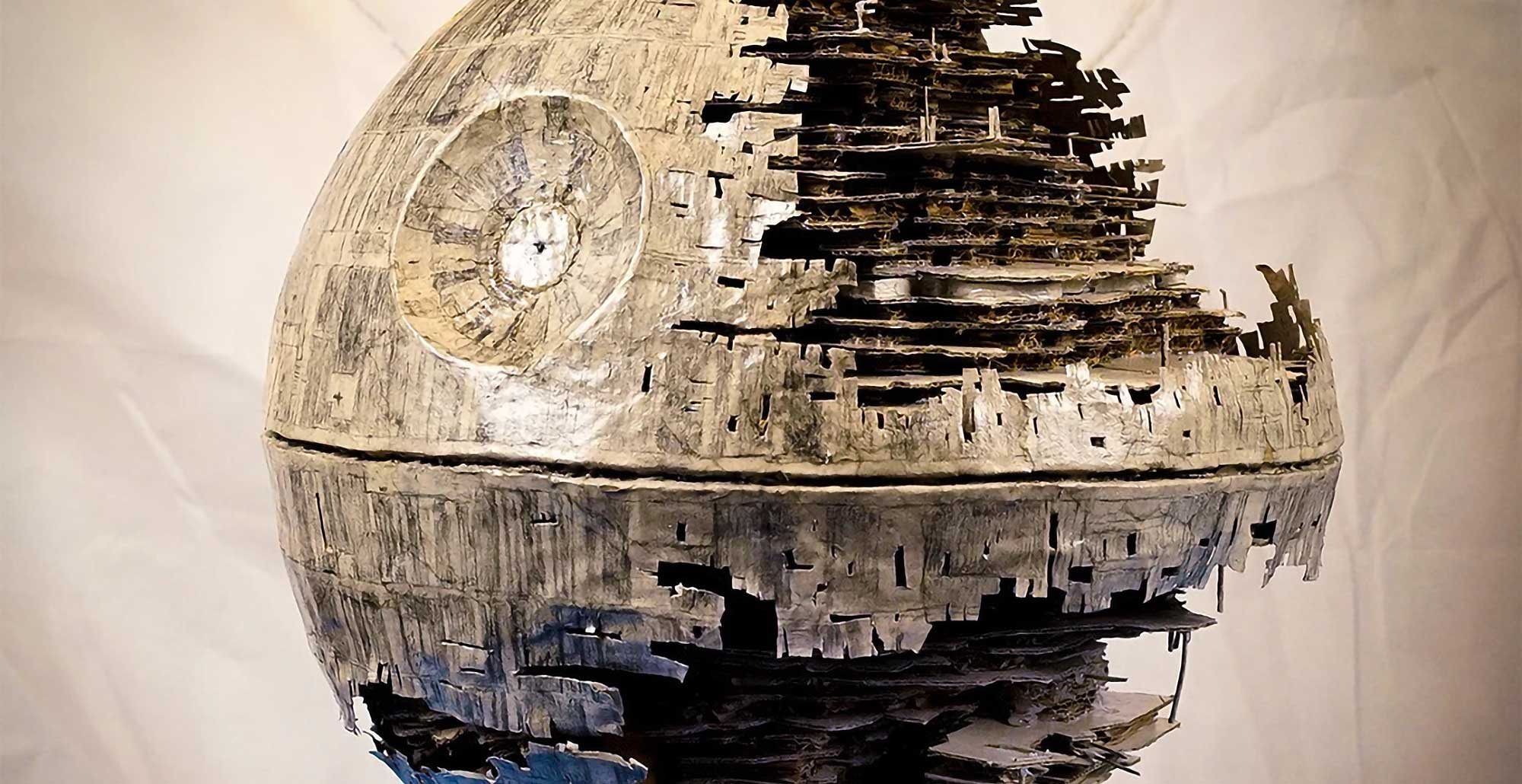 Death Star Ii Model Made Entirely Out Of Cardboard Is The Next Level Of Cardboard Art Shouts