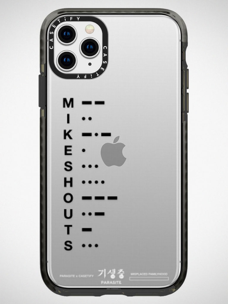 Parasite x CASETiFY Morse Code Custom iPhone Case