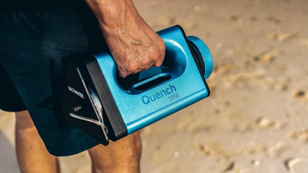 QuenchSea Portable Seawater Desalination Device