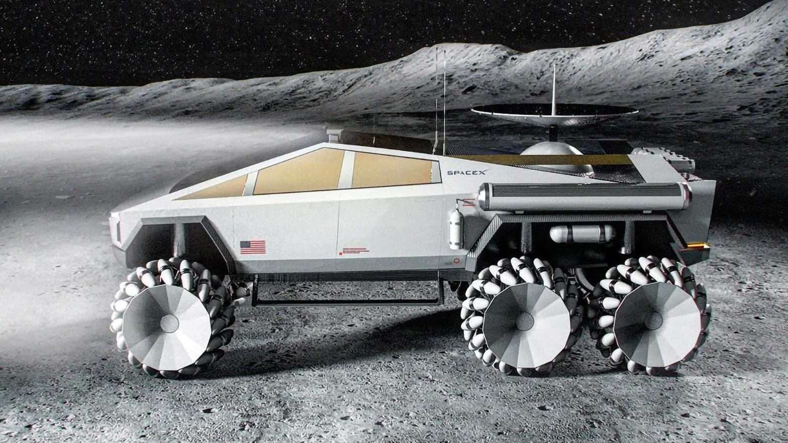 SpaceX Cyber6 Cybertruck Moonrover