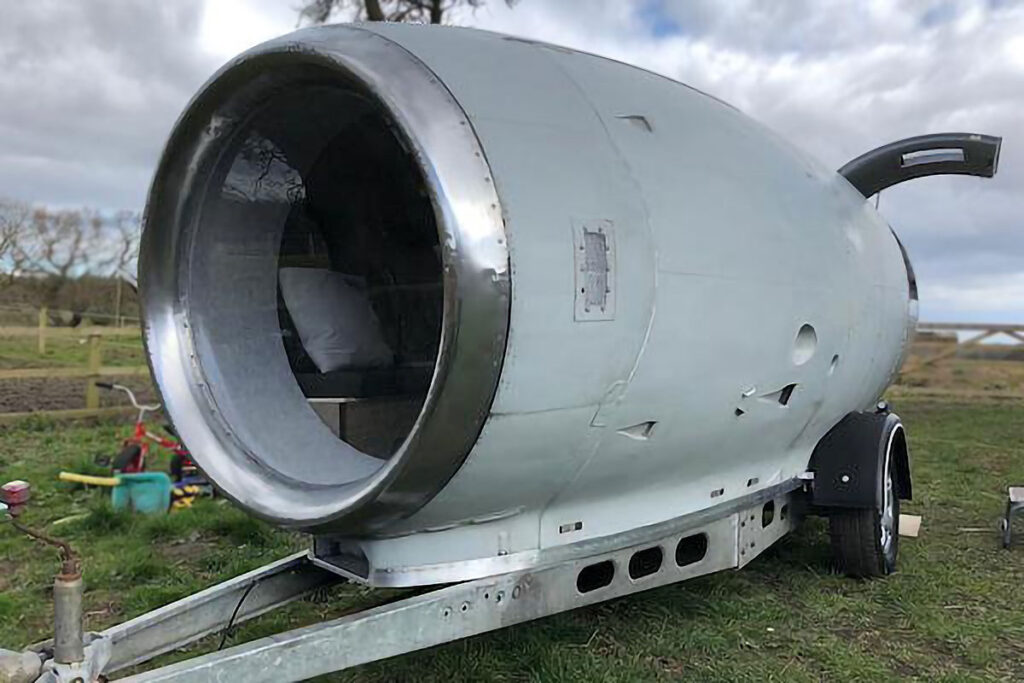Custom Built VC10 Engine Camper Trailer