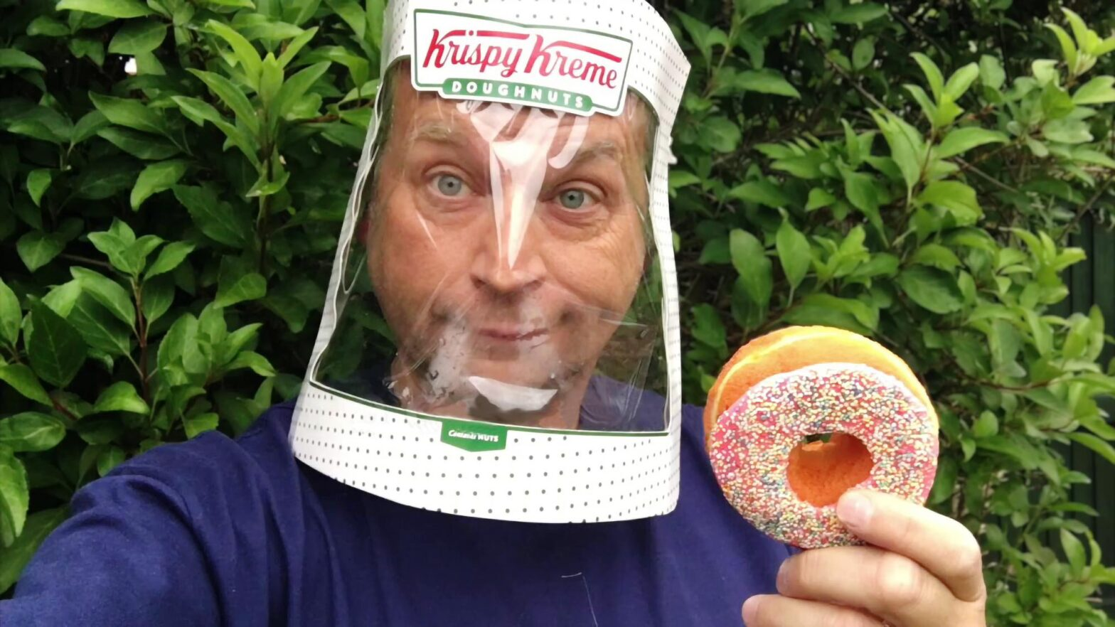 DIY Krispy Kreme Face Shield by Andy Clockwise