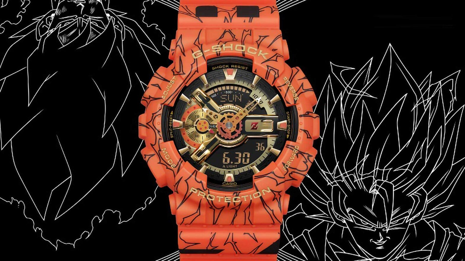 G-Shock Dragon Ball Z and One Piece Watches