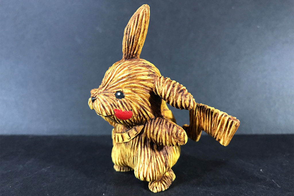 Kodykoala Pikachewie Custom Resin Figure