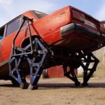 """A Custom Workshop In Russian Custom A Lada With Rear """"Hind Legs"""" And It Actually Worked"""