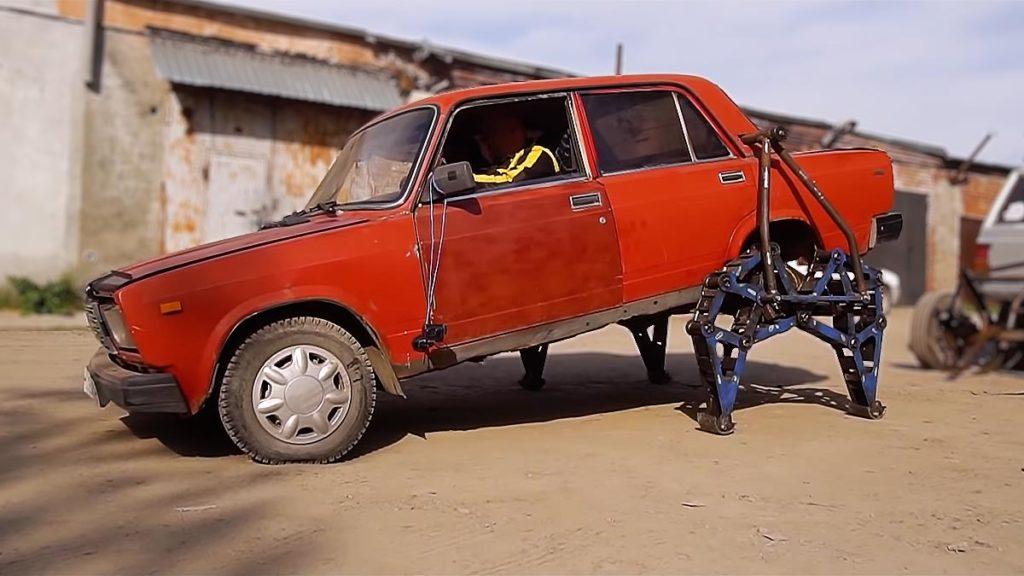 Lada-walker: Custom Lada Sedan with Legs
