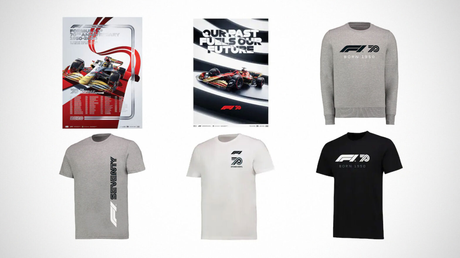 70 Years of Formula 1 Merchandises