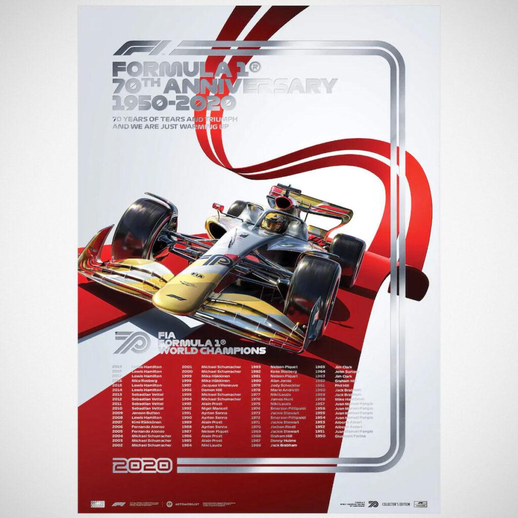 70 Years of Formula 1 Merchandises