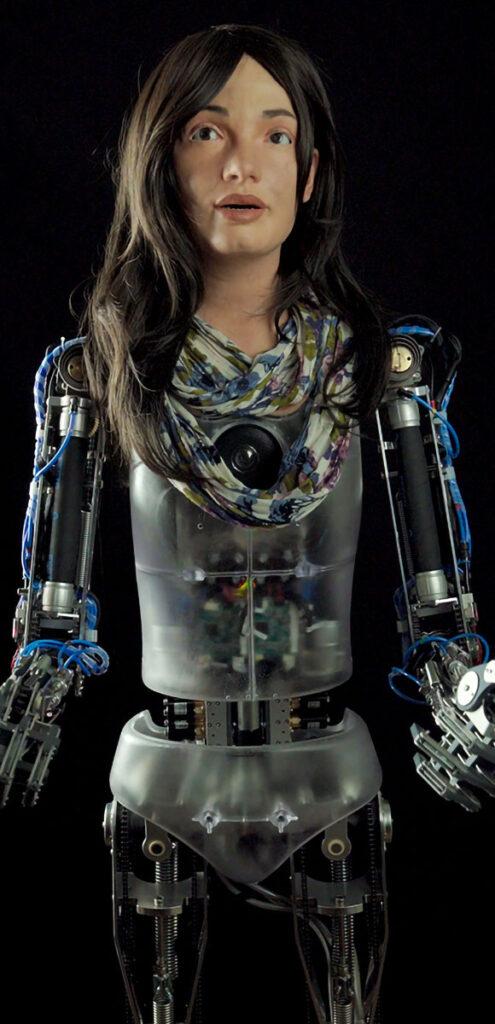 Ai-Da The Humanoid AI Robot Artist Second Exhibition