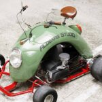 Car Customizer Used The Fender Of A VW Beetle To Create This Cool Go-Kart/Scooter Hybrid