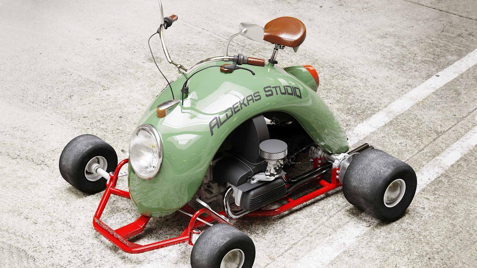 Bugkart Wasowski Go-Kart Motorcycle Hybrid