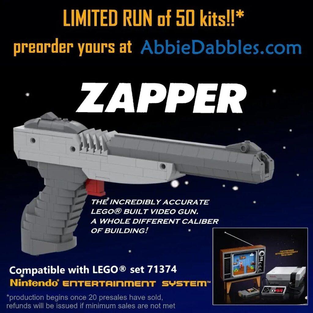 Custom LEGO Nintendo Zapper Kit by AbbieDabbles