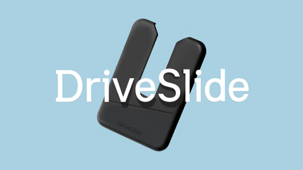 DriveSlide 2-piece Sliding and Locking Laptop Attachment