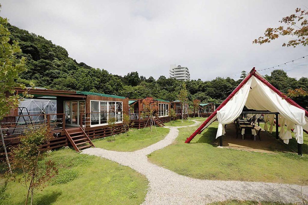 Glamping Village HAJIME in Kyoto Japan