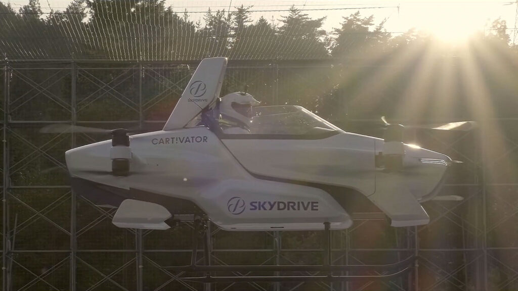 Japan's SkyDrive Demoed Manned Flying Car