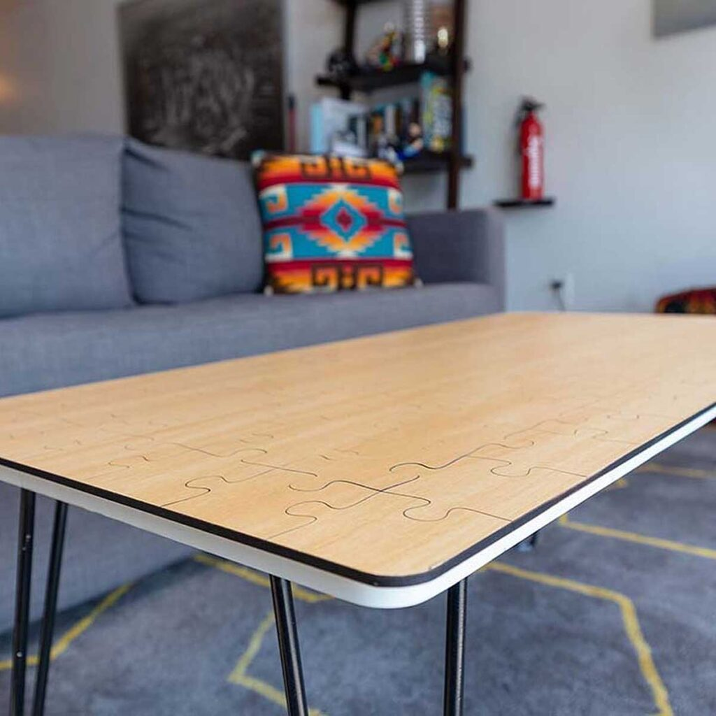 Jigsaw Puzzle Coffee Table by Unnecessary Inventions