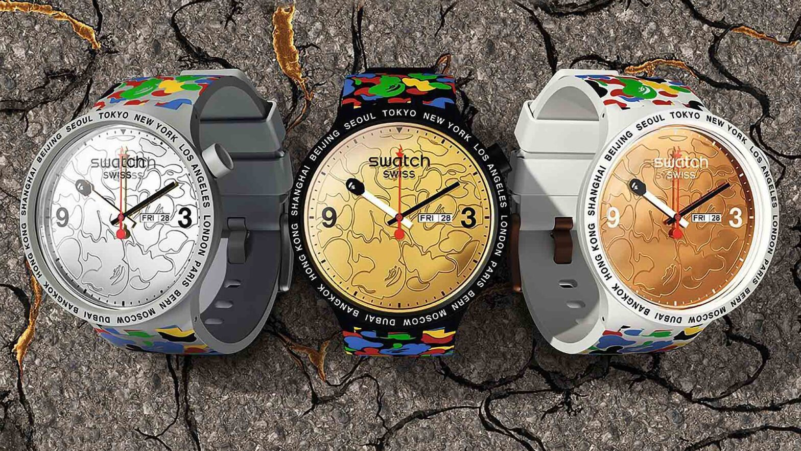 Swatch x BAPE Wrist Watch Collection