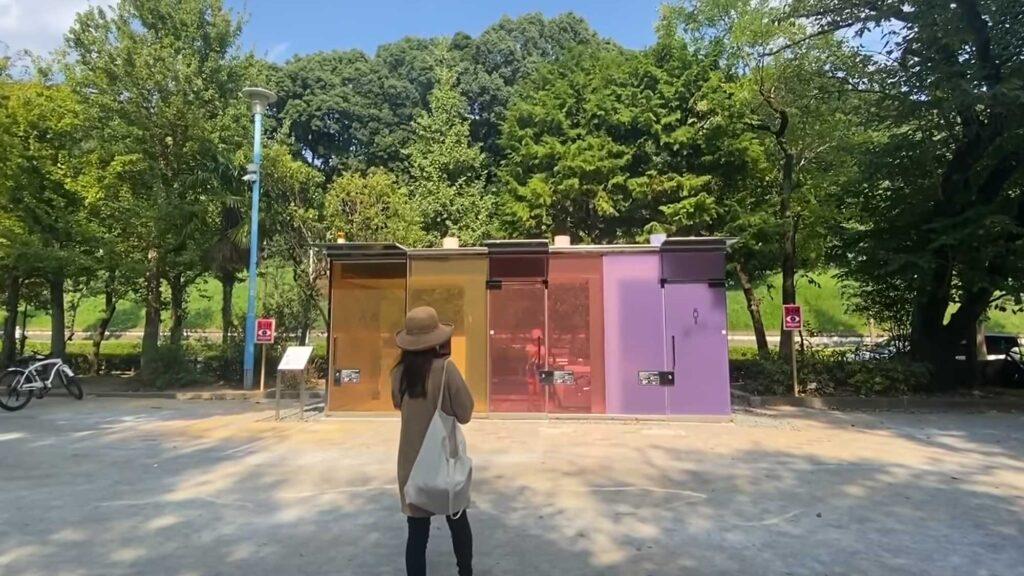 Transparent Restrooms in Tokyo Japan