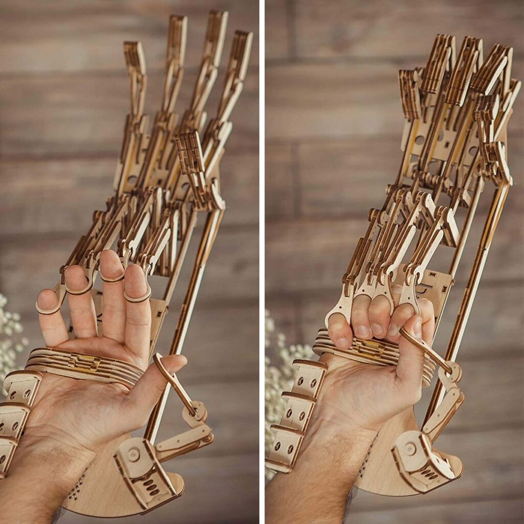 Wood Trick Buildable Wooden Robot Hand