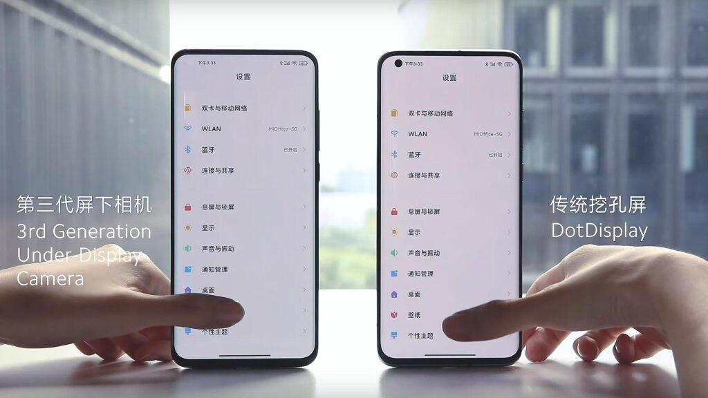Xiaomi 3rd-Gen Under-Display Camera Tech
