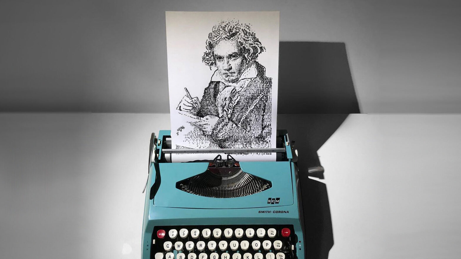 Artist Creates Illustrations Using Typewriter