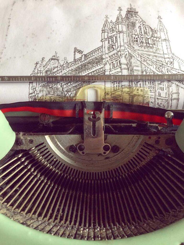 Artist Creates Illustrations Using Typewriter