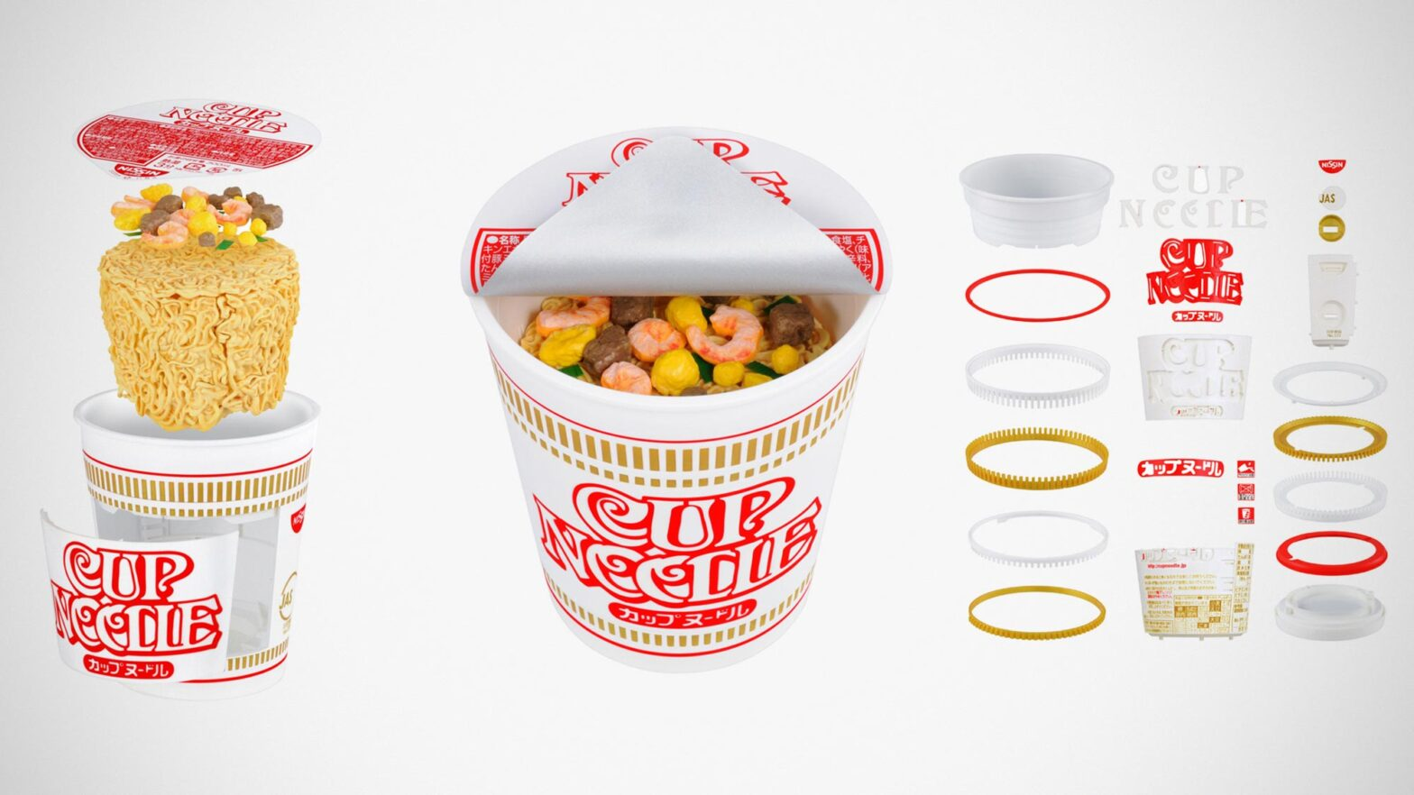 Bandai Best Hit Chronicle 1/1 Cup Noodle Model Kit