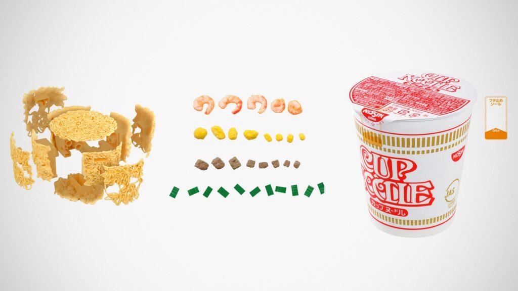 Bandai Best Hit Chronicle 1/1 Cup Noodle Model Kit