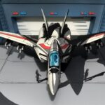 Cel-Shaded <em>Macross</em> Diorama Looks Exactly Like The Anime, Even The Perspective!