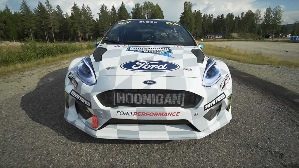 Ford Fiesta ERX Electric Rally Cross Car in Action