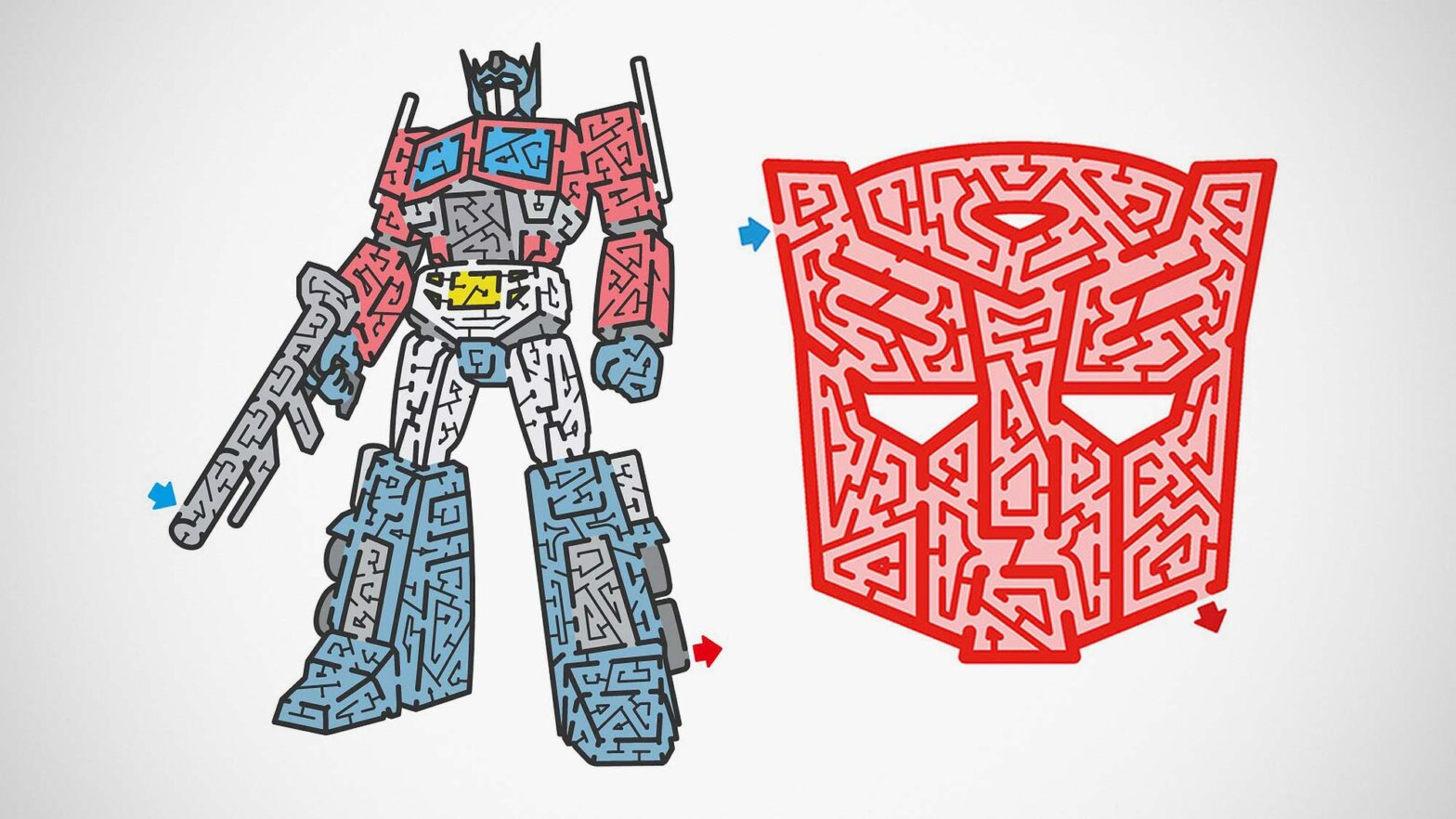 Free Transformers-themed Maze by Meiro Yoshikawa