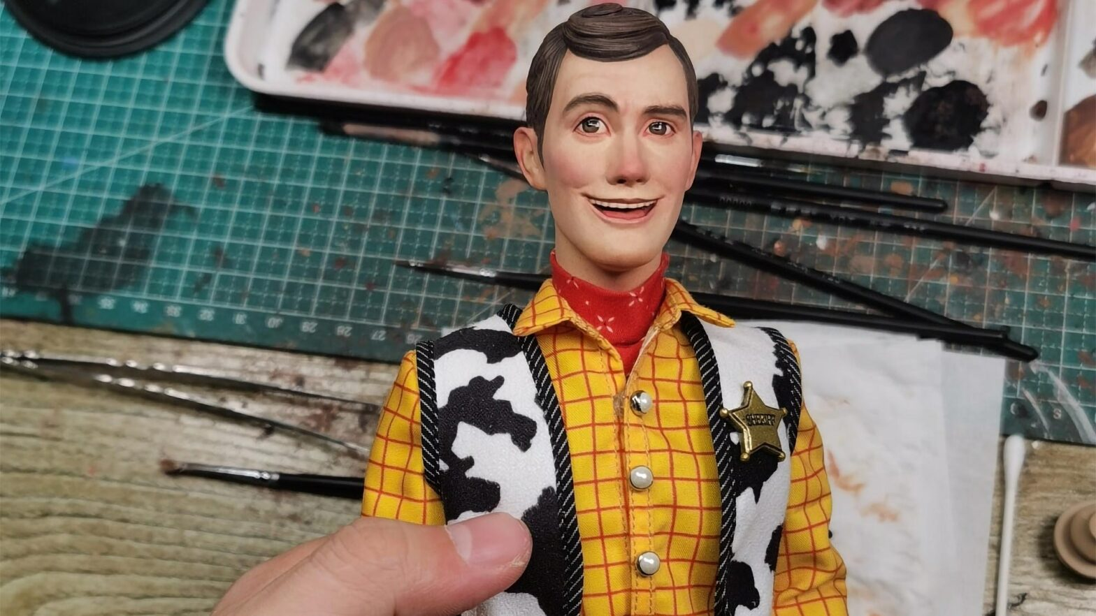 Hyperrealistic Toy Story Wood Figure