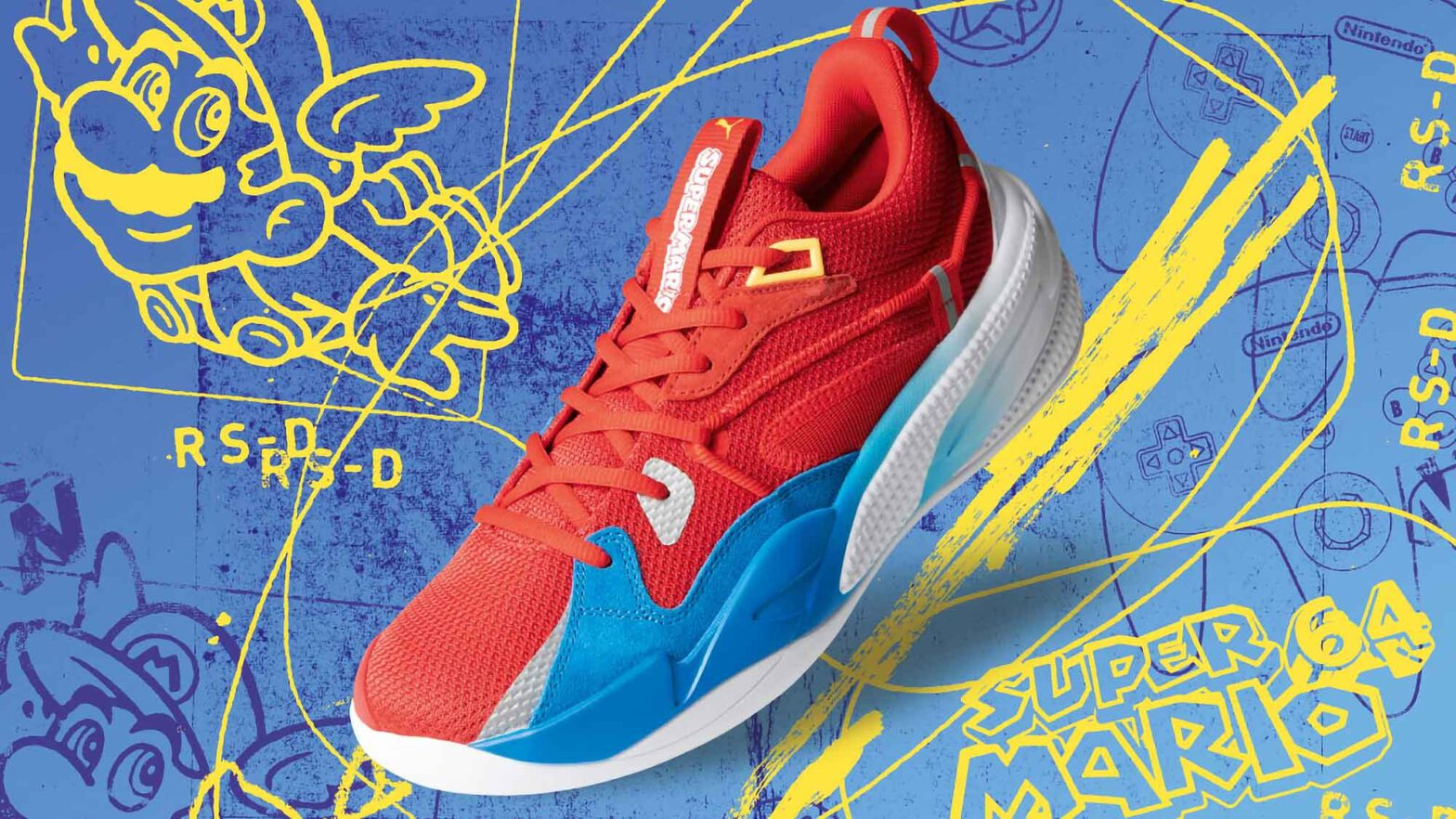 Puma RS-Dreamer Super Mario 64 Basketball Shoes