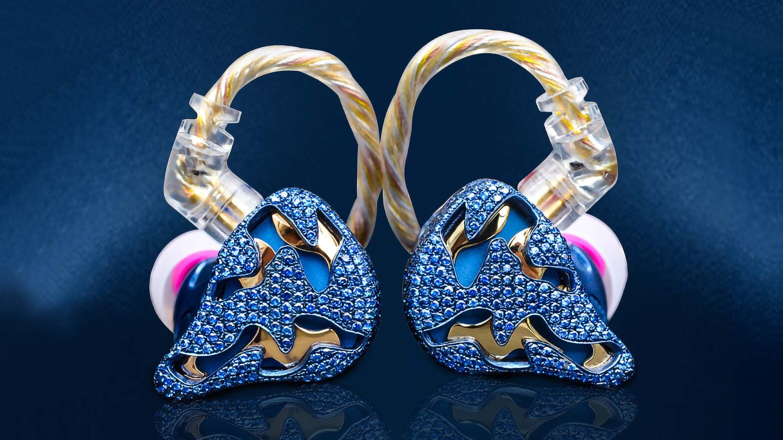 QDC Blue Dragon Luxury Jewelry Earphones