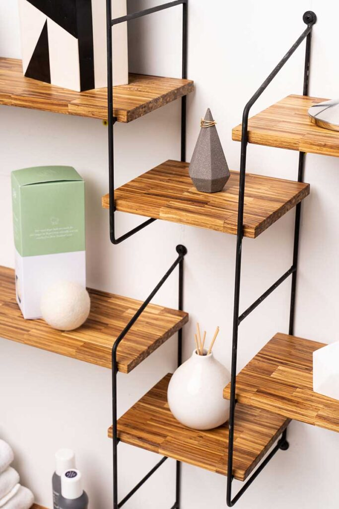 SMILE Modular Shelf Made Entirely of Chopsticks